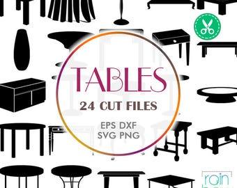 Esstisch clipart  Furniture clipart | Etsy