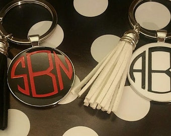 Personalized Tassel Keychains