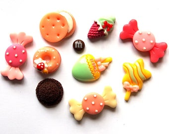 Sweets Cabochons x 10