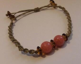 Adjustable spiral bracelet, hemp bracelet, drawstring bracelet, friendship bracelet.