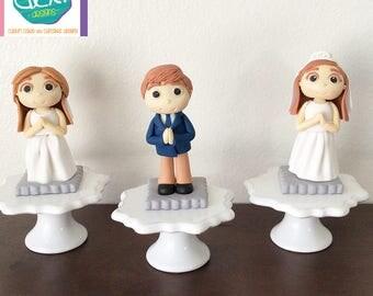 Edible Fondant First Communion Cake Topper (Boy or Girl)