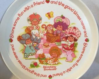 1980's Strawberry Shortcake Silite Plate.