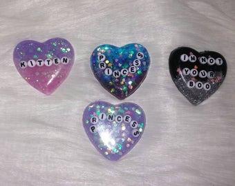 Heart Decoden cabochon
