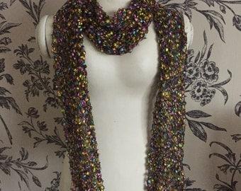 Fancy ladder yarn scarf
