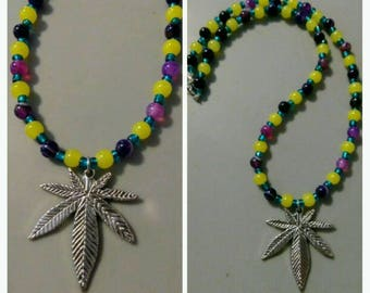 Cannabis leaf necklace