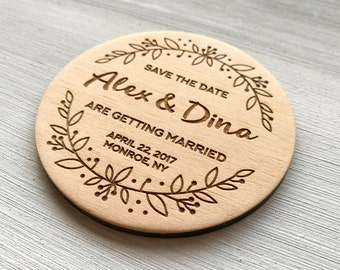 Save the Date Wedding Save the Date Magnets Wedding Announcement Summer Party Save the Date Personalized Magnets Wedding Favors Invintation
