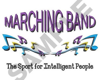Marching Band - Machine Embroidery Design