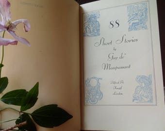 VINTAGE GUY de MAUPASSANT Book of Short Stories, French literature book written in English, 88 Short Stories by one of France's best Authors
