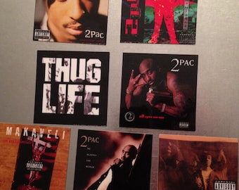 2Pac Tupac Shakur MAGNETS 90's west coast rap gangsta hip hop OG Makaveli death row RIP black panther california vinyl