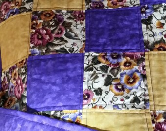 Royal Purple and Gold quilt