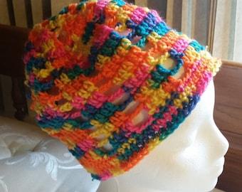 Slouchy Hat, Crochet Hat