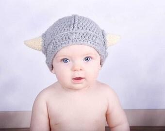 Crochet Viking Hat, Beanie, Cap, Halloween Costume, Boy Hat, Girl Hat, Charater Hat, Wool Blend, Photo Prop, Newborn Photos