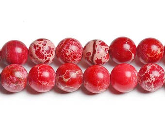 8mm red beads red variscite red round beads red gems red stones red imperial jasper red impression beads wholesale stones wholesale gems red