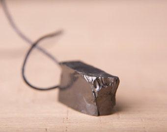 Elite Shungite pendant (EMF protection vibes), shungite vibe jewelry, energy crystal, shungite elite - noble shungite, shungite #1