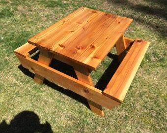 Cedar a A Kids Outdoor Picnic Table