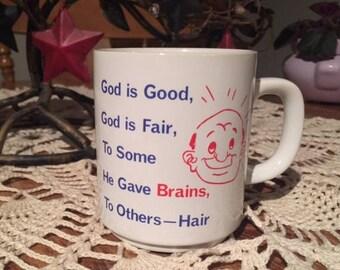Bald Man Mug, Gag Gift Mug, Bald Men are Smart Mug