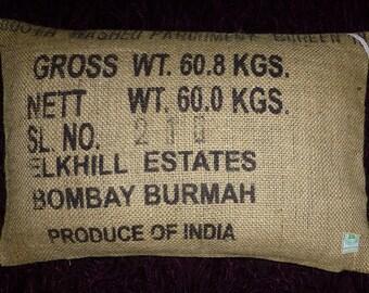 "Pillowcase original coffee bag cushion ""Bombay"", 60 x 40 cm"