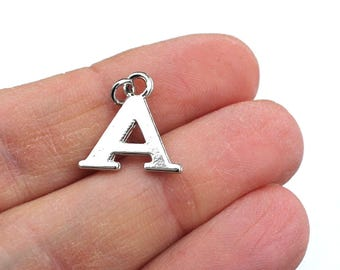 One Letter A, Alphabet Charm, A, Letter A