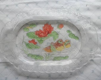 Vintage plastic tray made in China