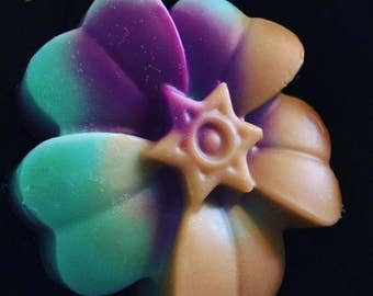 Assorted flower soaps