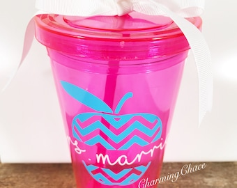 Personalized teacher appreciation gift - Personalized Teacher Gift - Personalized Tumblers - Personalized Tumbler Cups - Glitter Tumbler