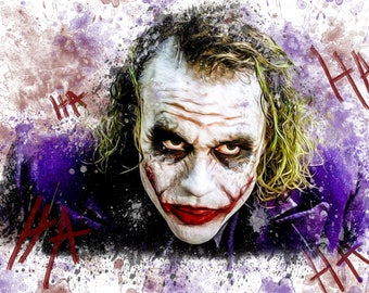 "Joker (The Dark Knight)  19"" W x 13"" H Poster"