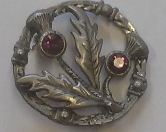 Vintage Brooch, Scottish Thistle
