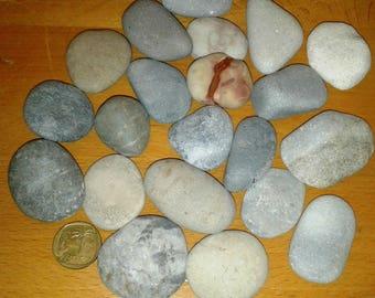 Natural round stones - Mediterranean sea
