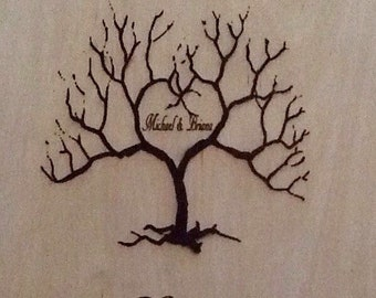 Laser engraved personalized wood wedding gifts