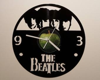 Vinyl Clock, four guys from Liverpool, Christmas gift, Wall clock, vinyl record clock
