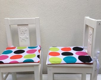 Spotty Ikea Kritter Kids Chair Cushion Cover  - Spotty Childrens Chair Cover - Rainbow Kids Cushion Cover