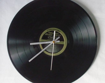 Home decor - home decor wall - room decor tumblr - best friend gift - classic wall clock made from a cover 33rpm vinyl record!