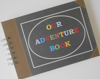Personalised Our/My ADVENTURE BOOK Guest Book Photo Album Scrapbook Travel Gift Memories Romantic Gift Personalised Anniversary Gift Book