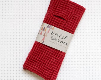 Original Wrist Worms, Merino Wool, Red