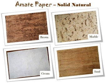 Handcrafted AMATE PAPER – Solid Pattern – 24in x 16in - - - Papel Amate – Liso – 60cm x 40cm