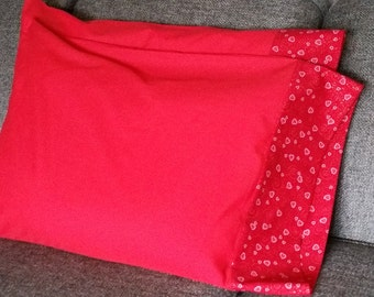 Red/Pink Heart Pillow Cases