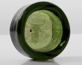 Vintage Paperweight by Erik Höglund for Kosta Boda Sweden Green Glass Bowl Dish Bull's Head Scandinavian Design Glass Art Collectables