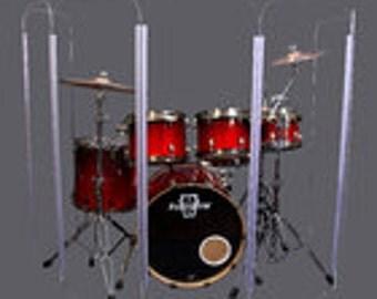 Drum Shield, Drum Shields, Drum Booth, Sound Booth, DS4L
