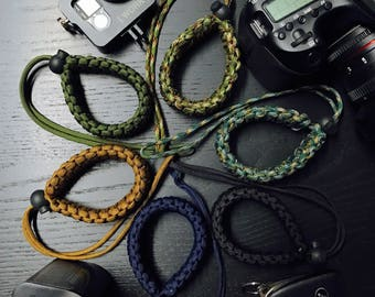 Double Braided Paracord DSLR Camera Wrist Straps - Ultra Strength - High Quality
