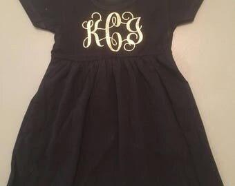 Toddler monogrammed dress
