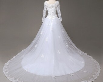 Custom Made Zboda Bridal Wedding Dress Luxurious Princess Wedding Dress embroided lace With Beading Ball Gown Wedding Dress 2017