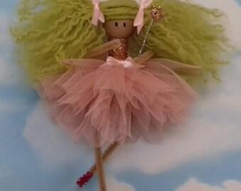 handmade fairy, pixie, doll, ornament