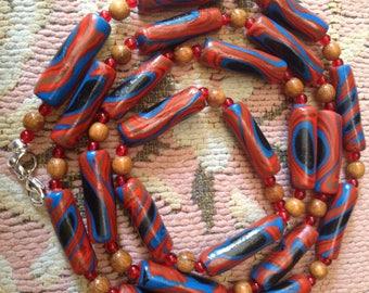 Unique summer colored necklace