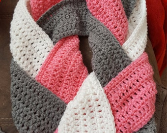 Customizable Braided Infinity Scarf