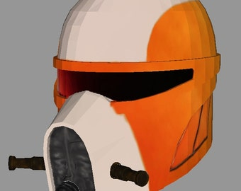 "Helmet star wars the clone underwater ""Pepakura PDO"""
