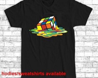 rubik's cube t-shirt gamer tshirt t shirt men's women's birthday present gift S M L XL XXL black white gray red blue yellow
