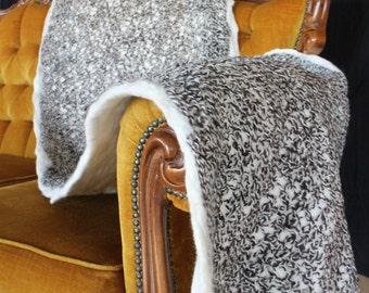 Handmade Felted End of Bed Throw- Alpaca Wool