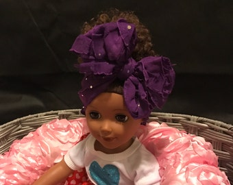 Purple Bow with Sequin Accent
