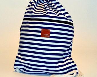 Stripes Backpack Blue