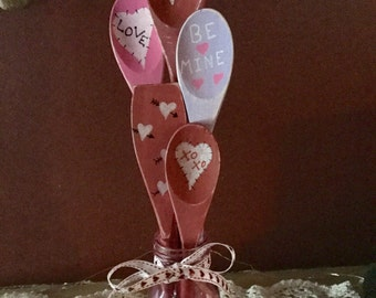 Valentine's Day wooden spoons